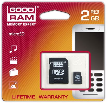 Picture of Goodram Micro SD 2 GB z adapterem do SD